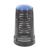 Geperforeerde kunststof afvalbak Ruff - zwart/blauw