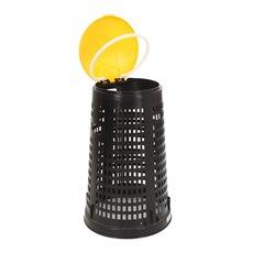 Geperforeerde kunststof afvalbak Ruff - zwart/geel