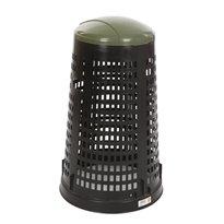 Geperforeerde kunststof afvalbak Ruff - zwart/groen