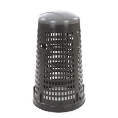 Geperforeerde kunststof afvalbak Ruff - zwart/grijs