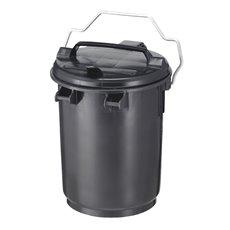 Kunststof afvalbak 35 ltr - donkergrijs