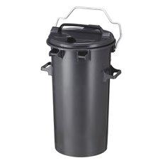 Kunststof afvalbak 50 ltr - donkergrijs