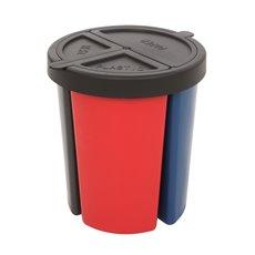 Eco Bin recycling set - zwart/blauw/rood/grijs