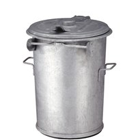Staalverzinkte afvalbak 90 ltr - verzinkt