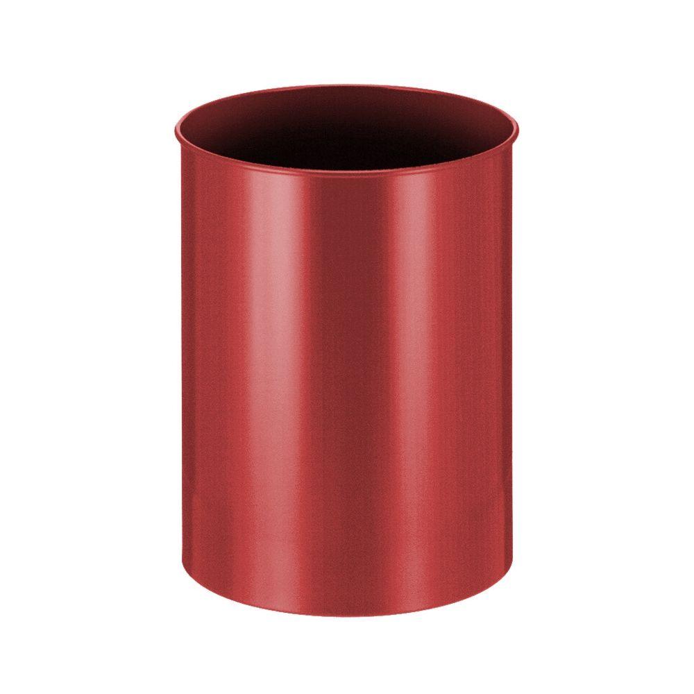 Ronde papierbak 30 ltr - rood