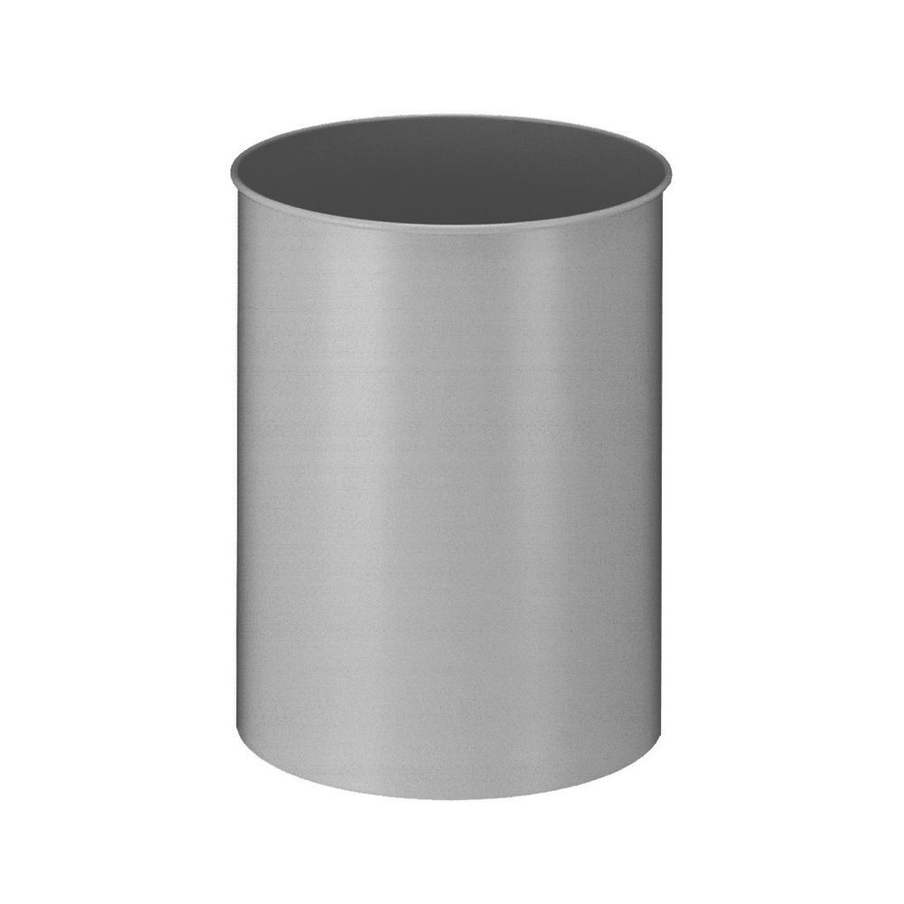 Ronde papierbak 30 ltr - aluminium