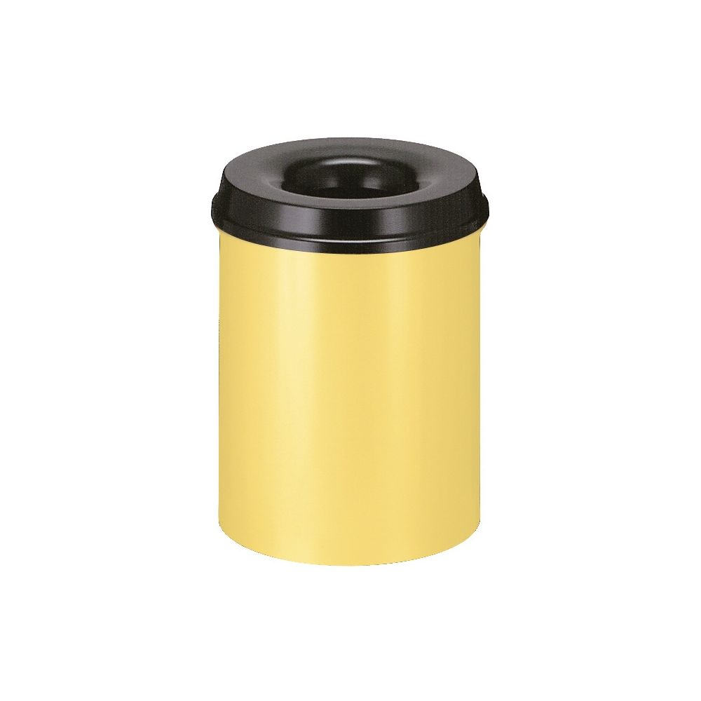 Vlamdovende papierbak 15 ltr - geel/zwart