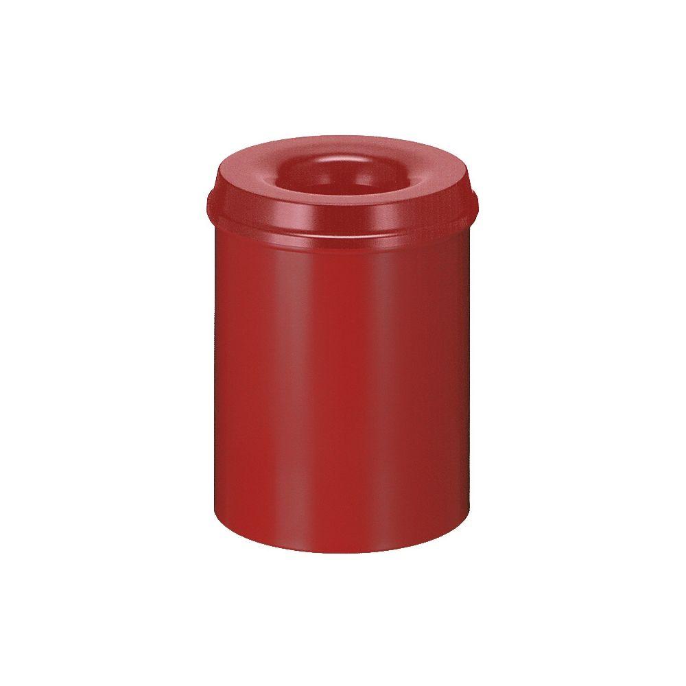 Vlamdovende papierbak 15 ltr - rood