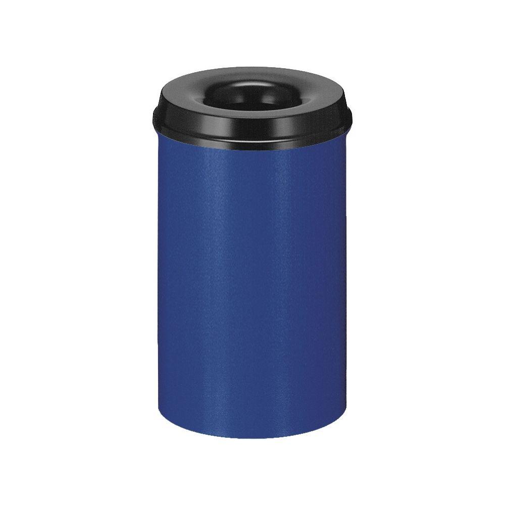 Vlamdovende papierbak 20 ltr - blauw/ zwart