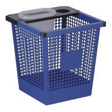 Vierkant tapse geperforeerde papierbak - blauw