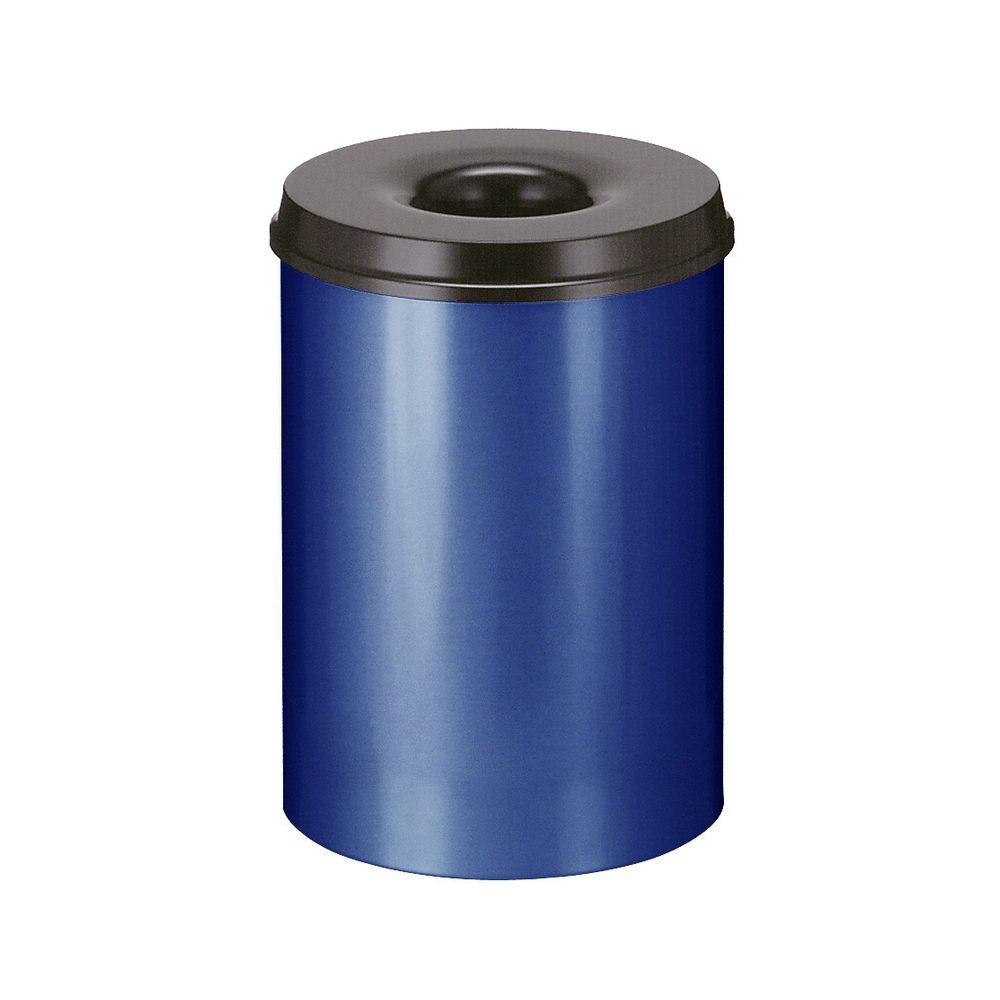 Vlamdovende papierbak 30 ltr - blauw/zwart