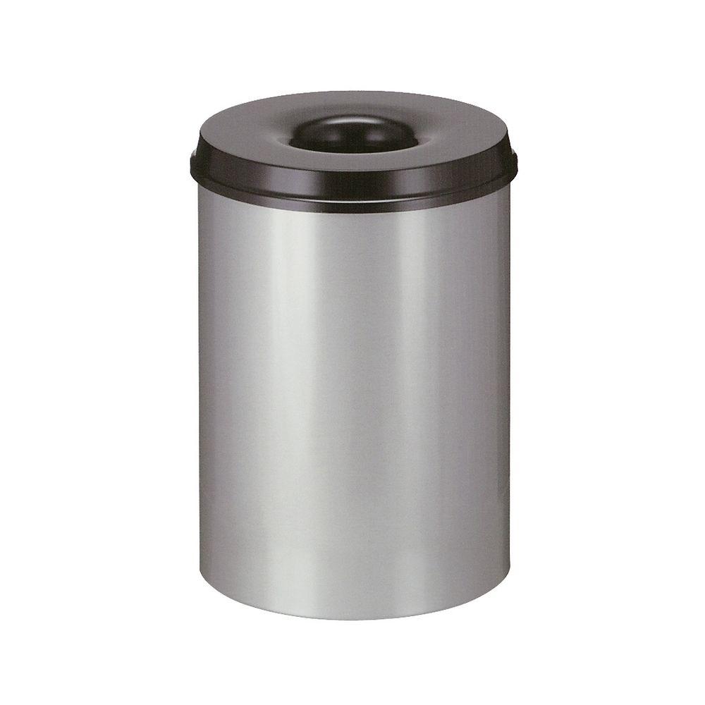 Vlamdovende papierbak 30 ltr - grijs/zwart