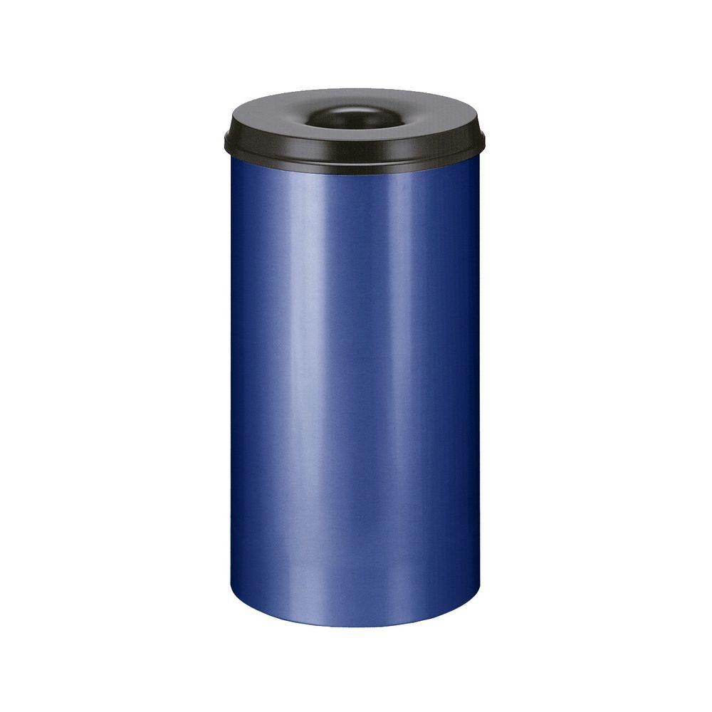 Vlamdovende papierbak 50 ltr - blauw/zwart