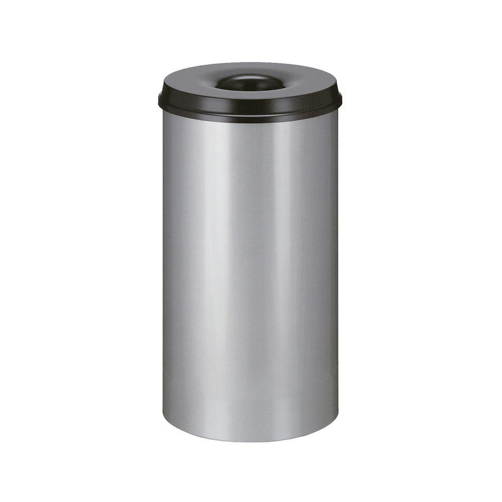 Vlamdovende papierbak 50 ltr - grijs, zwart