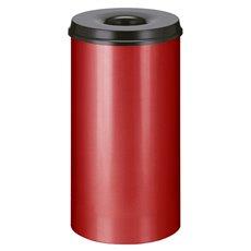 Vlamdovende papierbak 50 ltr - rood/zwart