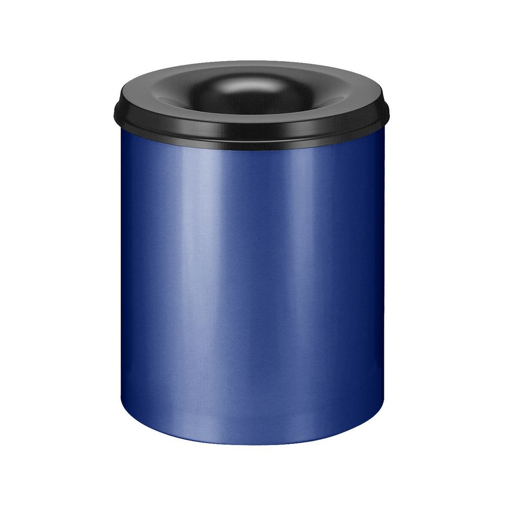 Vlamdovende papierbak 80 ltr - blauw/zwart