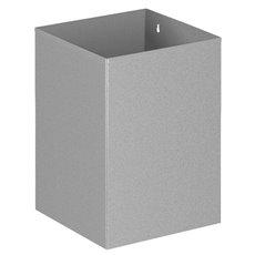 Vierkante papierbak - grijs
