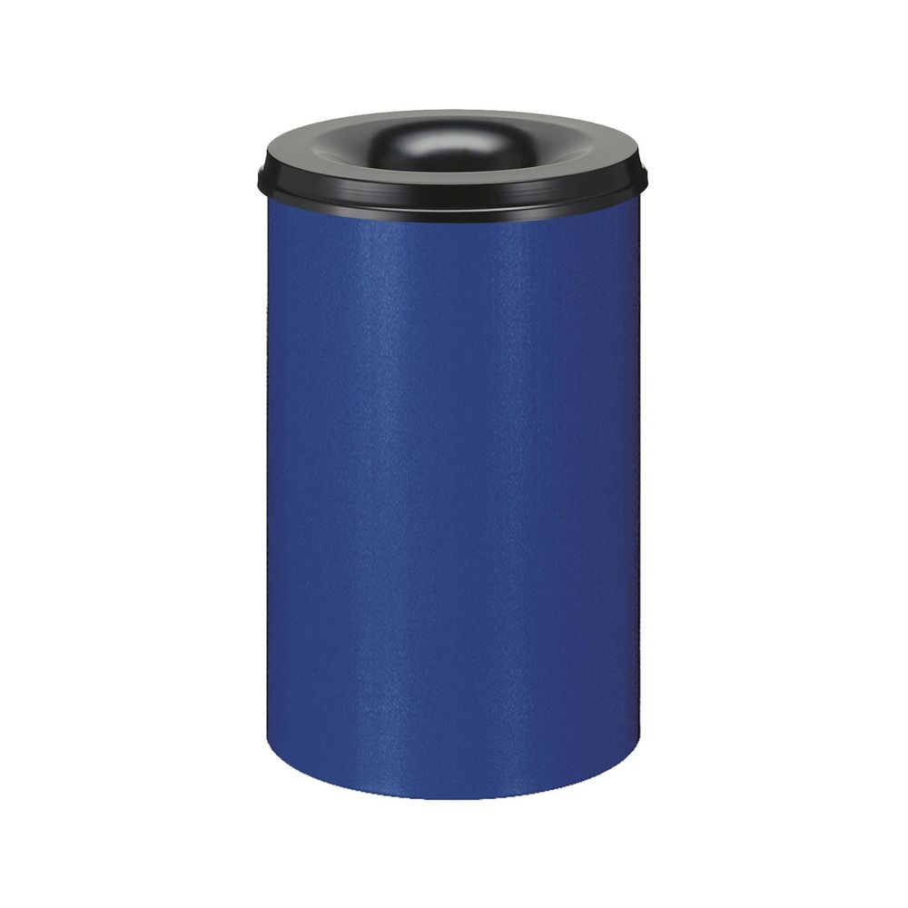 Vlamdovende papierbak 110 ltr - blauw/zwart