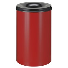 Vlamdovende papierbak 110 ltr - rood/zwart