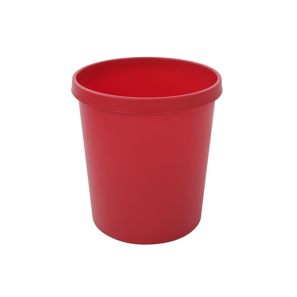 Ronde papierbak 18 ltr - rood