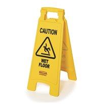 Rubbermaid Tweezijdig waarschuwingsbord - geel