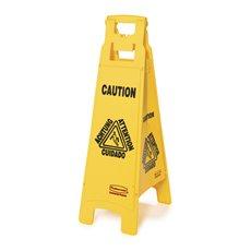 Rubbermaid Vierzijdig waarschuwingsbord - meertalig - geel