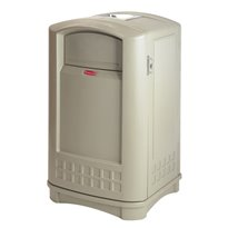 Rubbermaid Landmark container met asbak - beige