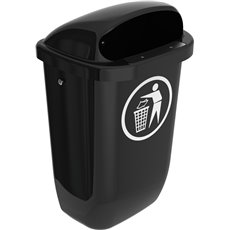 Afvalbak DIN-PK 50 ltr - antraciet
