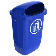 Afvalbak DIN-PK 50 ltr - blauw