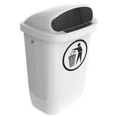 Afvalbak DIN-PK 50 ltr - wit