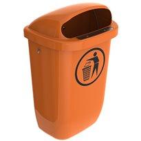 Afvalbak DIN-PK 50 ltr - oranje