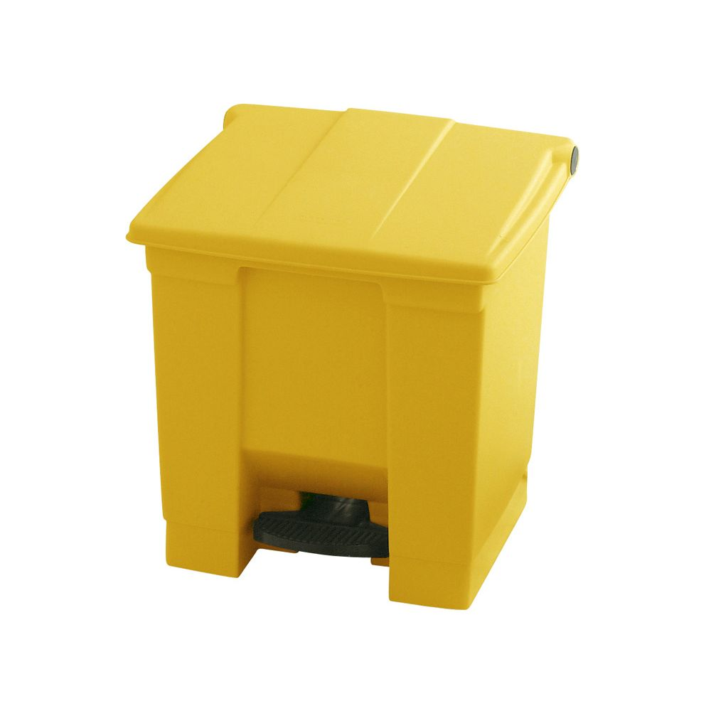 Rubbermaid Step-On container 30 ltr - geel