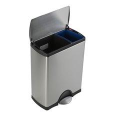Simplehuman Rectangular Recycler, Simplehuman - mat RVS