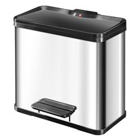 Hailo Öko Duo Plus 19 + 11 ltr - RVS/zwart
