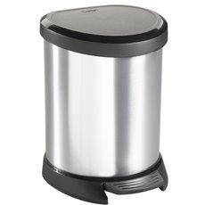 Pedaalemmer Decobin 5 ltr - zilver/zwart