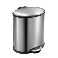 EKO Ellipse Step Bin 20 ltr - mat RVS