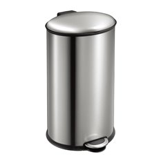 EKO Ellipse Step Bin 40 ltr - mat RVS