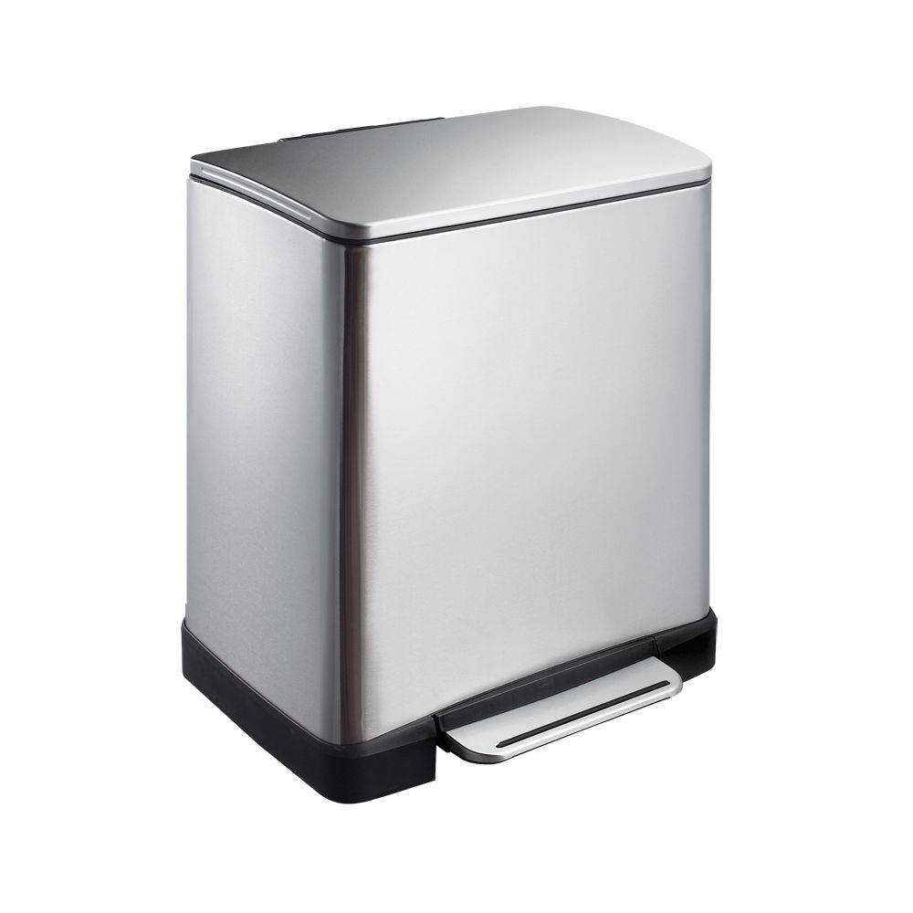 EKO Pedaalemmer E-Cube recycling 10+9 ltr - mat RVS