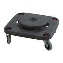 Rubbermaid Brute Dolly vierkant - zwart