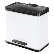 Hailo Öko Duo Plus 19 + 11 ltr - wit/zwart