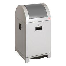 Hailo ProfiLine recycling pedaalemmer met binnenemmer 40 ltr - witaluminium/grijs
