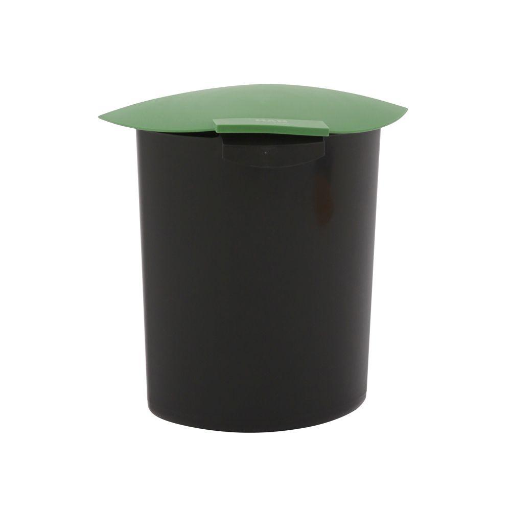 Inzet 6 ltr met deksel - zwart/groen
