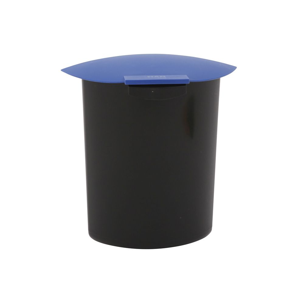 Inzet 6 ltr met deksel - zwart/blauw