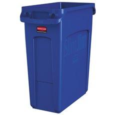 Rubbermaid Slim Jim met luchtsleuven 60 ltr - blauw