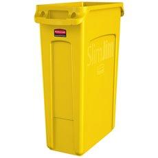 Rubbermaid Slim Jim met luchtsleuven 87 ltr - geel
