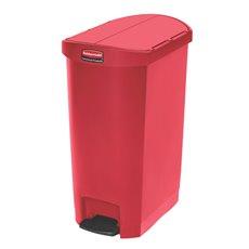 Rubbermaid Slim Jim Step On container End Step kunststof 50 ltr - rood