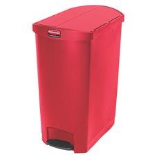 Rubbermaid Slim Jim Step On container End Step kunststof 90 ltr - rood