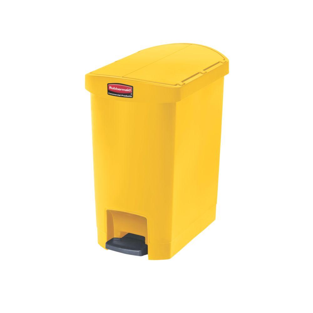 Rubbermaid Slim Jim Step On container End Step kunststof 30 ltr - geel