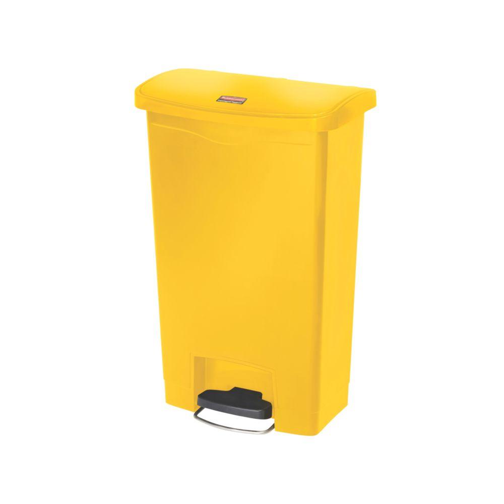 Rubbermaid Slim Jim Step On container Front Step kunststof 50 ltr - geel