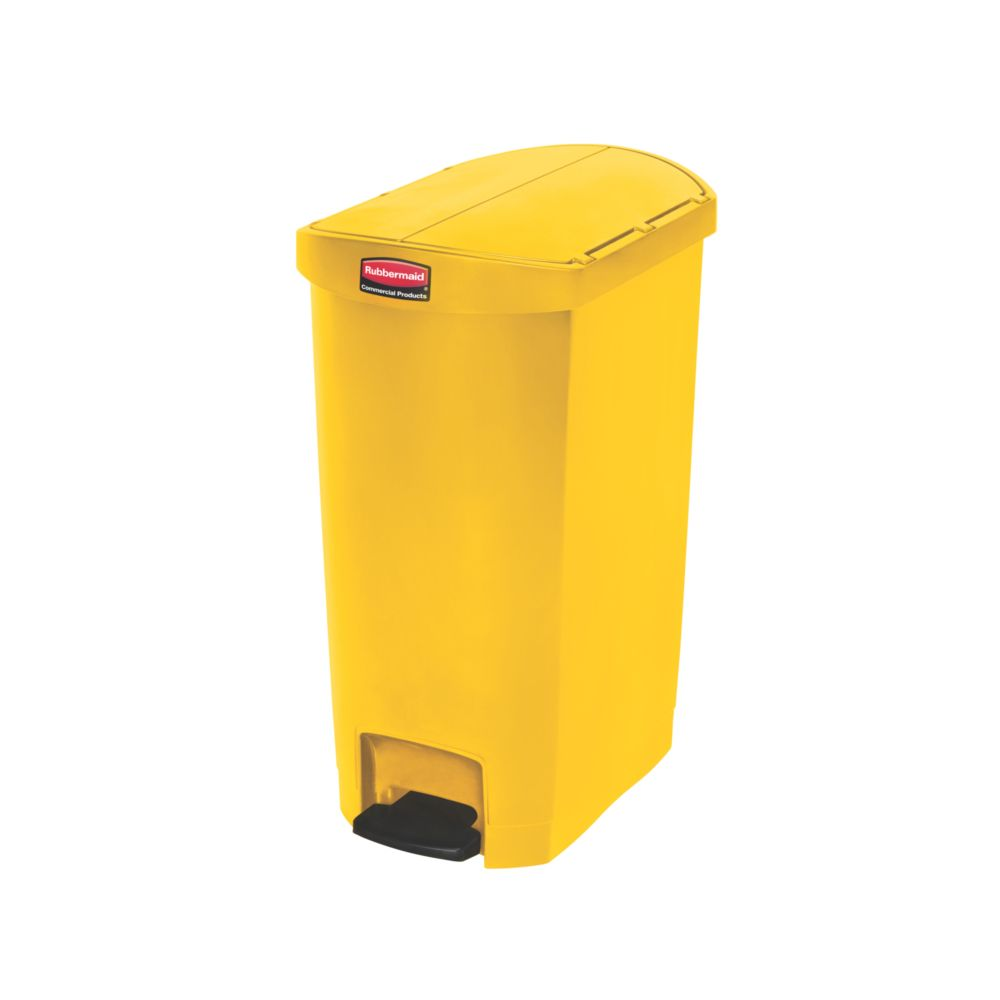 Rubbermaid Slim Jim Step On container End Step kunststof 50 ltr - geel